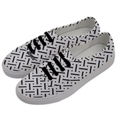Geometric Pattern Men s Classic Low Top Sneakers by Jojostore