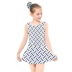 Geometric Pattern Kids  Skater Dress Swimsuit