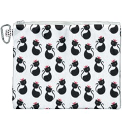 Cat Seamless Animal Pattern Canvas Cosmetic Bag (xxxl)
