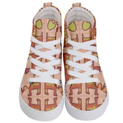 Dog Abstract Background Pattern Design Kid s Hi Top Skate Sneakers