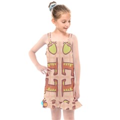 Dog Abstract Background Pattern Design Kids  Overall Dress by Jojostore