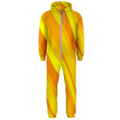 Orange Yellow Background Hooded Jumpsuit (men)  by Jojostore