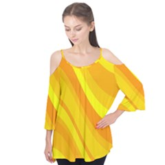 Orange Yellow Background Flutter Tees