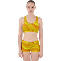 Orange Yellow Background Work It Out Gym Set by Jojostore