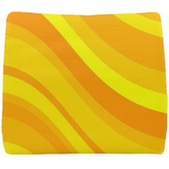 Orange Yellow Background Seat Cushion by Jojostore