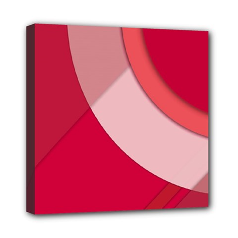 Red Material Design Mini Canvas 8  X 8  (stretched) by Jojostore