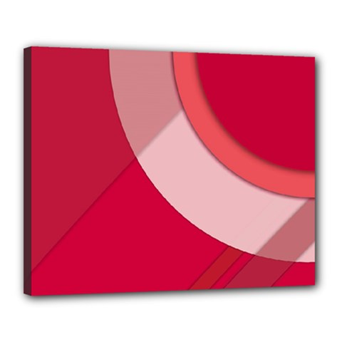 Red Material Design Canvas 20  X 16  (stretched)