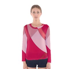 Red Material Design Women s Long Sleeve Tee by Jojostore