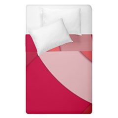 Red Material Design Duvet Cover Double Side (single Size) by Jojostore