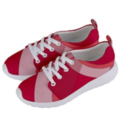 Red Material Design Women s Lightweight Sports Shoes by Jojostore