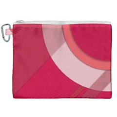 Red Material Design Canvas Cosmetic Bag (xxl) by Jojostore