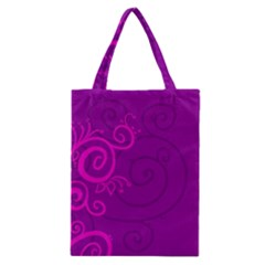 Floraly Swirlish Purple Color Classic Tote Bag