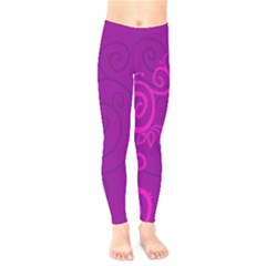 Floraly Swirlish Purple Color Kids  Legging