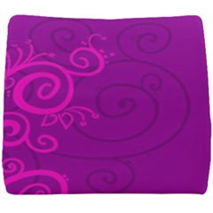Floraly Swirlish Purple Color Seat Cushion by Jojostore