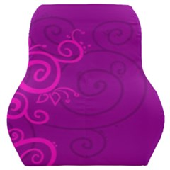 Floraly Swirlish Purple Color Car Seat Back Cushion  by Jojostore