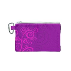Floraly Swirlish Purple Color Canvas Cosmetic Bag (small) by Jojostore