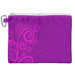 Floraly Swirlish Purple Color Canvas Cosmetic Bag (xxl) by Jojostore