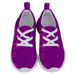 Floraly Swirlish Purple Color Running Shoes by Jojostore