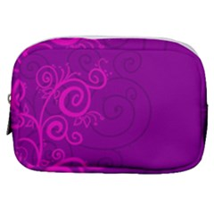 Floraly Swirlish Purple Color Make Up Pouch (small) by Jojostore