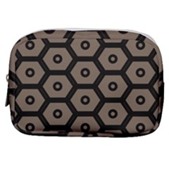 Black Bee Hive Texture Make Up Pouch (small) by Jojostore