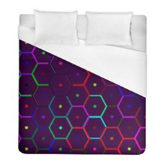 Color Bee Hive Pattern Duvet Cover (full/ Double Size)