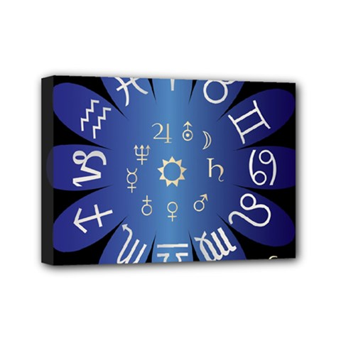 Astrology Birth Signs Chart Mini Canvas 7  X 5  (stretched) by Jojostore