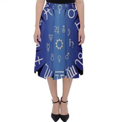 Astrology Birth Signs Chart Classic Midi Skirt