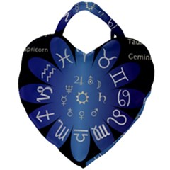 Astrology Birth Signs Chart Giant Heart Shaped Tote