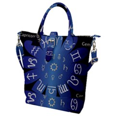 Astrology Birth Signs Chart Buckle Top Tote Bag
