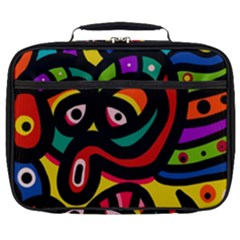 A Seamless Crazy Face Doodle Pattern Full Print Lunch Bag by Jojostore