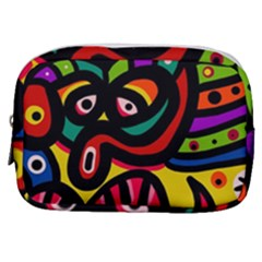 A Seamless Crazy Face Doodle Pattern Make Up Pouch (small) by Jojostore