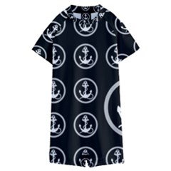 Anchor Pattern Kids  Boyleg Half Suit Swimwear by Jojostore