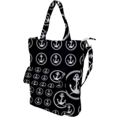 Anchor Pattern Shoulder Tote Bag by Jojostore