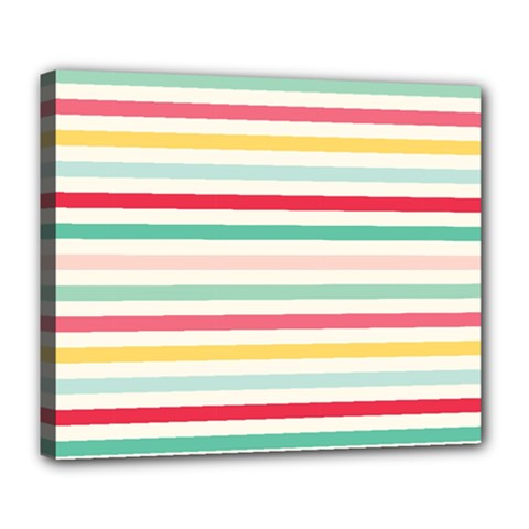 Papel De Envolver Hooray Circus Stripe Red Pink Dot Deluxe Canvas 24  X 20  (stretched) by Jojostore