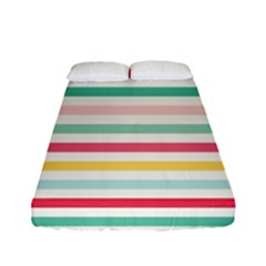 Papel De Envolver Hooray Circus Stripe Red Pink Dot Fitted Sheet (full/ Double Size) by Jojostore
