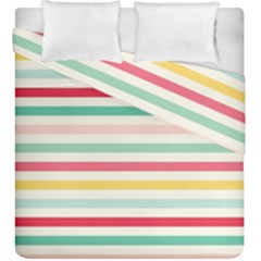 Papel De Envolver Hooray Circus Stripe Red Pink Dot Duvet Cover Double Side (king Size)