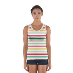 Papel De Envolver Hooray Circus Stripe Red Pink Dot Sport Tank Top  by Jojostore
