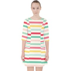 Papel De Envolver Hooray Circus Stripe Red Pink Dot Pocket Dress