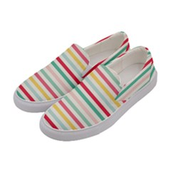 Papel De Envolver Hooray Circus Stripe Red Pink Dot Women s Canvas Slip Ons by Jojostore