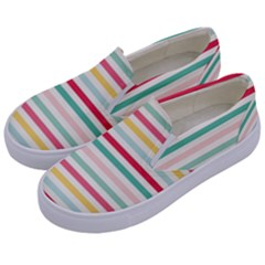 Papel De Envolver Hooray Circus Stripe Red Pink Dot Kids  Canvas Slip Ons by Jojostore