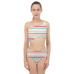 Papel De Envolver Hooray Circus Stripe Red Pink Dot Spliced Up Two Piece Swimsuit