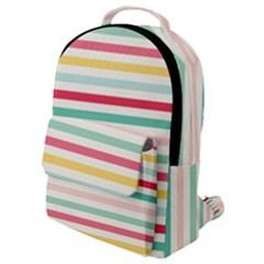 Papel De Envolver Hooray Circus Stripe Red Pink Dot Flap Pocket Backpack (small) by Jojostore