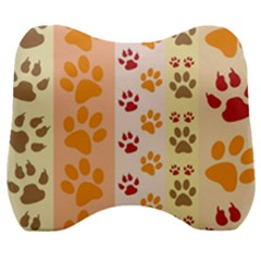 Paw Print Paw Prints Fun Background Velour Head Support Cushion by Jojostore