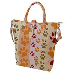 Paw Print Paw Prints Fun Background Buckle Top Tote Bag