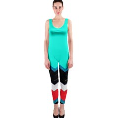 Pattern Digital Painting Lines Art One Piece Catsuit