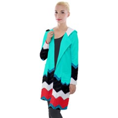 Pattern Digital Painting Lines Art Hooded Pocket Cardigan