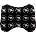 Elephant Wallpaper Pattern Head Support Cushion View1