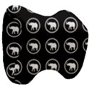 Elephant Wallpaper Pattern Head Support Cushion View3