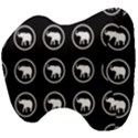 Elephant Wallpaper Pattern Head Support Cushion View4