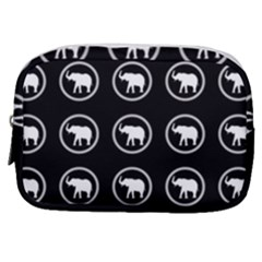 Elephant Wallpaper Pattern Make Up Pouch (small) by Jojostore
